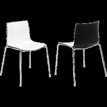 chaise-cati-blanche-noire-ch44